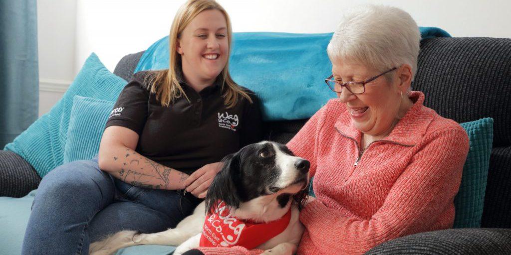 Gemma, Lily and Friendship Dog Bentley